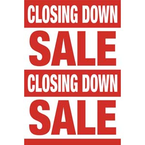 Closing Down Sale Posters