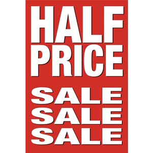 Half Price Sale Posters
