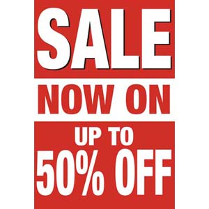 Sale Now On Posters